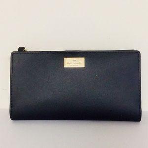 Kate Spade Black Tri-fold Wallet